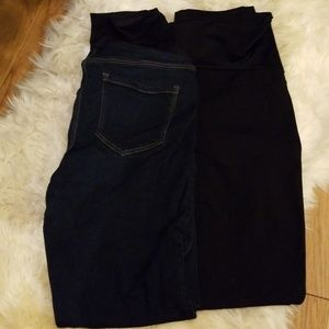 Two pair of Liverpool maternity pants